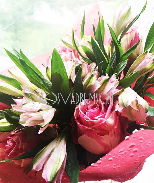 Магазин название свадебный букет невесты из пионов цветов нарисованный